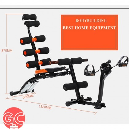 GC Exercise Bench Sit Up Gym Fitness Workout Machine with Exercise Bike