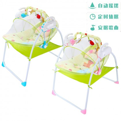 Auto Swing Electric Motorized Baby Cradle with Timer and Melody