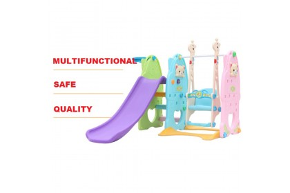 5 in 1 Basketball Football Swing Slide Indoor Mini Playground