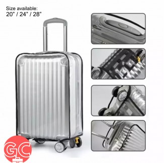 GC Waterproof Transparent PVC Luggage Cover