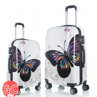 GC TL2001 Travel Luggage Set 20 + 24 Inch (Butterfly Design)