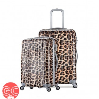 GC TL2004 Travel Luggage Set 20 + 24 Inch (Leopard Design)