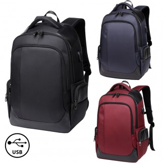 FS-0001 Waterproof Laptop and Travel Backpack with USB Port