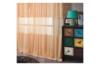 C002 Sheer Type Straps Design Curtain (2 Panels)
