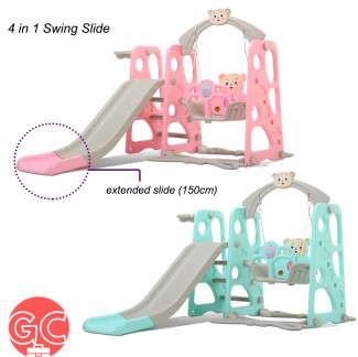GC 4 in 1 Swing Slide Mini Playground with Basketball Net – HT068